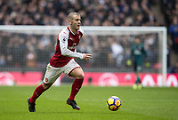 Jack Wilshere of Arsenal during the Premier League match between Tottenham Hotspur and Arsenal at Wembley Stadium, London, England on 10 February 2018. Photo by Andy Rowland / PRiME Media Images.