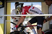 Thomas de Gendt (BEL/Lotto-Soudal) on the start ramp<br /> <br /> Stage 13 (ITT): Pau to Pau(27km)<br /> 106th Tour de France 2019 (2.UWT)<br /> <br /> ©kramon