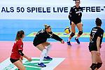 18.10.2020, Sporthalle Berg Fidel, Muenster<br /> Volleyball, Bundesliga Frauen, Normalrunde, USC Münster / Muenster vs. Rote Raben Vilsbiburg<br /> <br /> Annahme Jodie Guilliams (#15 Vilsbiburg)<br /> <br />   Foto © nordphoto / Kurth