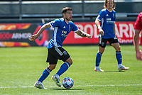 SAN JOSE, CA - APRIL 24: Eric Remedi #5 of the San Jose Earthquakes controls the ball during a game between FC Dallas and San Jose Earthquakes at PayPal Park on April 24, 2021 in San Jose, California.