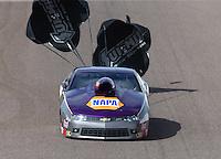 Feb 21, 2015; Chandler, AZ, USA; NHRA pro stock driver Vincent Nobile during qualifying for the Carquest Nationals at Wild Horse Pass Motorsports Park. Mandatory Credit: Mark J. Rebilas-