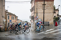 Mathieu Van der Poel (NED/Alpecin-Fenix) being his impressive self...<br /> <br /> <br /> Stage 5 from Castellalto to Castelfidardo (205km)<br /> <br /> 56th Tirreno-Adriatico 2021 (2.UWT) <br /> <br /> ©kramon