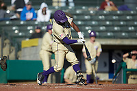 Immanuel Wilder (27) of the Western Carolina Catamounts at bat against the Saint Joseph's Hawks at TicketReturn.com Field at Pelicans Ballpark on February 23, 2020 in Myrtle Beach, South Carolina. The Hawks defeated the Catamounts 9-2. (Brian Westerholt/Four Seam Images)