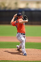 Houston Astros pitcher Parker Mushinski (23) during a Minor League Spring Training game against the New York Mets on April 27, 2021 at FITTEAM Ballpark of the Palm Beaches in Palm Beach, Fla.  (Mike Janes/Four Seam Images)