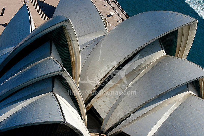 Aerial view of the Sydney Opera House in Australia.