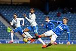 13.02.2021 Rangers v Kilmarnock: Cedric Itten tries to divert the ball past the keeper