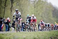 Peter SAGAN (SVN/BORA-Hansgrohe) coming through the infamous (Trouée d')Arenberg Forest<br /> <br /> 117th Paris-Roubaix 2019 (1.UWT)<br /> One day race from Compiègne to Roubaix (FRA/257km)<br /> <br /> ©kramon
