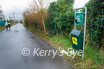 The site of the discarded dog poop bags on the Greenway in Tralee on Thursday