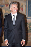 President of Argentine Republic, Mauricio Macri during the reception in honor of his majesties the Kings of Spain offered by his excellencies the president of the Argentine Republic at El Pardo Palace in Madrid, Spain. February 23, 2017. (ALTERPHOTOS/BorjaB.Hojas)