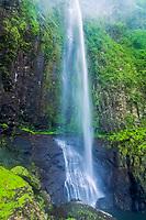 waterfall, Cocos Island, Costa Rica, Pacific Ocean