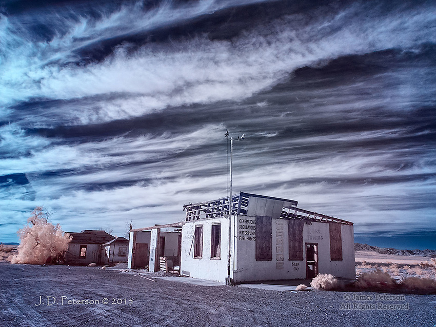 Generators, Regulators: Abandoned Garage on Route 66 (Infrared)
