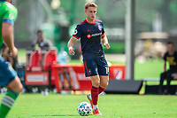 LAKE BUENA VISTA, FL - JULY 14: Djordje Mihailovic #14 of the Chicago Fire dribbles the ball during a game between Seattle Sounders FC and Chicago Fire at Wide World of Sports on July 14, 2020 in Lake Buena Vista, Florida.