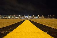 Mit 9 Jahren Verspaetung wurde am 31. Oktober 2020 der Flughafen Berlin-Brandenburg BER in Schoenefeld eroeffnet.<br /> Im Bild: Blick auf das Terminal 1-2 von der Landebahn aus.<br /> 31.10.2020, Schoenefeld<br /> Copyright: Christian-Ditsch.de