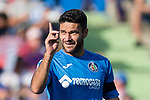 Jorge Molina Vidal of Getafe CF celebrates after scoring his goal during the La Liga 2017-18 match between Getafe CF and Real Madrid at Coliseum Alfonso Perez on 14 October 2017 in Getafe, Spain. Photo by Diego Gonzalez / Power Sport Images