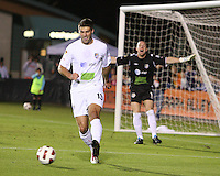 David Horst #13 of the Puerto Rico Islanders during the second leg of the USSF-D2 championship match against theCarolina Railhawks at WakeMed Soccer Park, in Cary, North Carolina on October 30 2010.