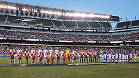 PHILADELPHIA, PENNSYLVANIA - JUNE 30: Pre-gams during the 2019 CONCACAF Gold Cup quarterfinal match between the United States and Curacao at Lincoln Financial Field on June 30, 2019 in Philadelphia, Pennsylvania.