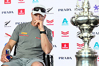 17th March 2021; Waitemata Harbour, Auckland, New Zealand;  Luna Rossa Prada Pirelli helmsman Jimmy Spithill.<br />