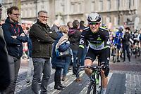 Serge Pauwels (BEL/DimensionData) at the start in Liège<br /> <br /> 103rd Liège-Bastogne-Liège 2017 (1.UWT)<br /> One Day Race: Liège › Ans (258km)