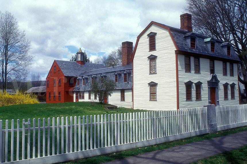 AJ1398, Massachusetts, Deerfield, The Berkshires, Dwight House in Historic Deerfield, Massachusetts in the spring.