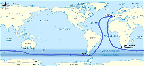 The course of the Vendee Globe