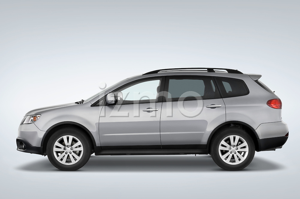 Driver side profile view of a 2008 Subaru Tribeca SUV