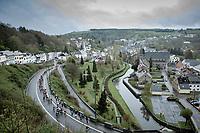 Peloton. <br /> <br /> 3th Liège-Bastogne-Liège-Femmes 2019 (1.WWT)<br /> 1 Day Race: Bastogne – Liège 138,5km<br /> <br /> ©kramon