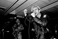 MONTREAL, CANADA - File Photo - Tupelo Chain Sex perform on February 24, 1988 in Montreal.<br /> <br /> <br /> Photo : agence quebec presse - Pierre Roussel
