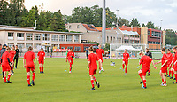 Woluwe players warming up before a female soccer game between FC Femina White Star Woluwe and Oud Heverlee Leuven on the fourth matchday in the 2021 - 2022 season of Belgian Scooore Womens Super League , Friday 10 th of September 2021  in Woluwe , Belgium . PHOTO SPORTPIX | SEVIL OKTEM