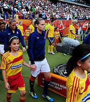 Fifa Women's World Cup Germany 2011 : Zweden - France Frankrijk at Sinsheim World Cup stadium : Eugenie Le Sommer.foto DAVID CATRY / Vrouwenteam.be