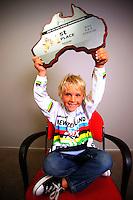 6-year-old BMX world champion Rico Bearman. BikeNZ/SPARC World Champions media session at Sparc Headquarters, Wellington, New Zealand on Wednesday, 2 December 2009. Photo: Dave Lintott / lintottphoto.co.nz