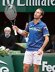 May 24, 2016:   Radek Stepanek (CZE) loses to Andy Murray (GBR) 3-6, 6-0, 6-3, 7-5, at the Roland Garros being played at Stade Roland Garros in Paris, .  ©Leslie Billman/Tennisclix/CSM