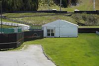 Fitnesszelt am Trainingsplatz - Seefeld 25.05.2021: Trainingslager der Deutschen Nationalmannschaft zur EM-Vorbereitung