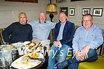 Enjoying the evening in the Brogue Inn on Saturday, l to r: Kieran Kelliher, Pat Reidy, Gene O'Donnell and John Murray.