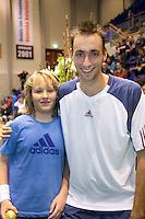 18-12-10, Tennis, Rotterdam, Reaal Tennis Masters 2010, Thomas Schoorel met de vanger van de gouden bal