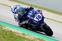 30th March 2021; Barcelona, Spain; Superbikes, WorldSSP600 , day 2 testing at Circuit Barcelona-Catalunya;   J. Cluzel (FRA) riding Yamaha YZF R6 from GMT94 Yamaha