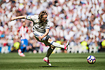Luka Modric of Real Madrid in action during their La Liga match between Real Madrid and Atletico de Madrid at the Santiago Bernabeu Stadium on 08 April 2017 in Madrid, Spain. Photo by Diego Gonzalez Souto / Power Sport Images
