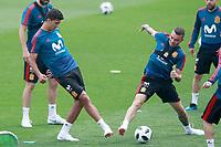 Spain's Rodri Hernandez (l) and Iago Aspas during training session. May 29,2018.(ALTERPHOTOS/Acero) /NortePhoto.com