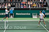 Rotterdam, The Netherlands. 16.02.2014. Michael Llodra(FRA)/Nicolas Mahut(FRA) ABN AMRO World tennis Tournament<br /> Photo:Tennisimages/Henk Koster