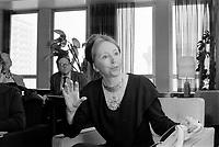 L'ecrivaine francaise<br /> Anais NIN,<br /> 5 mars 1973<br /> <br /> PHOTO : Alain Renaud<br />  - Agence Quebec Presse