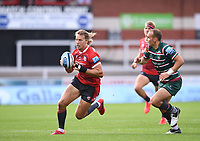 30th August 2020; Kingsholm Stadium, Gloucester, Gloucestershire, England; English Premiership Rugby, Gloucester versus Leicester Tigers; Billy Twelvetrees of Gloucester goes round Tom Hardwick of Leicester Tigers