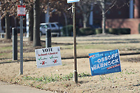 COLLEGE PARK, GA - JANUARY 5: Signs in downtown Atlanta during the Georgia Senate runoff races on January 5, 2021 in College Park, Georgia. <br /> CAP/MP34<br /> ©MPI34/Capital Pictures