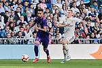 Real Madrid's Toni Kroos and Real Club Celta de Vigo's Brais Mendez during La Liga match between Real Madrid and Real Club Celta de Vigo at Santiago Bernabeu Stadium in Madrid, Spain. March 16, 2019. (ALTERPHOTOS/A. Perez Meca)