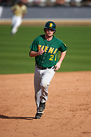 Siena Saints third baseman Brett Connors (2) during a game against the UCF Knights on February 21, 2016 at Jay Bergman Field in Orlando, Florida.  UCF defeated Siena 11-2.  (Mike Janes/Four Seam Images)