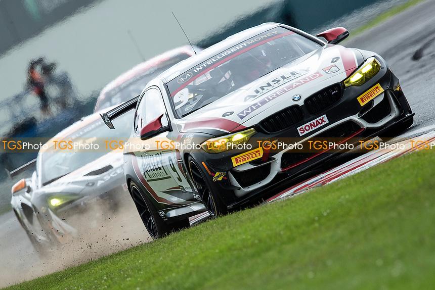 Chris Salkeld & Andrew Gordon-Colebrooke, BMW M4 GT4, Century Motorsport a little wide out of Goddards during the British GT & F3 Championship on 11th July 2021