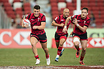 Jared Rosser of Wales runs with the ball during the match Wales vs Samoa, Day 2 of the HSBC Singapore Rugby Sevens as part of the World Rugby HSBC World Rugby Sevens Series 2016-17 at the National Stadium on 16 April 2017 in Singapore. Photo by Victor Fraile / Power Sport Images