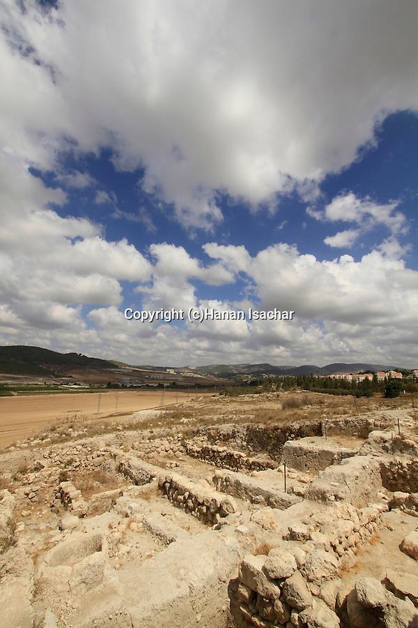 Israel, Shephelah, excavations in the northern part of Tel Beth Shemesh exposed ruins from the Israelite period