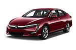 2018 Honda Clarity Plug-In Hybrid 4 Door Sedan angular front stock photos of front three quarter view