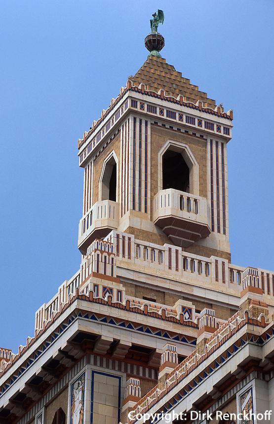 Cuba, Edeficio Bacardi auf der Av. de las Misiones in Habana, Unesco-Weltkulturerbe
