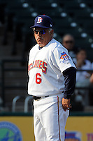 Brooklyn Cyclones manager Wally Backman (6) during game against the Staten Island Yankees at MCU Park in Brooklyn, NY June 19, 2010. Cyclones won 9-6.  Photo By Tomasso DeRosa/Four Seam Images