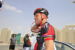 Taylor Phinney (USA) BMC Racing Team before the start of Stage 1 of the Tour of Qatar 2012 running 142.5km from Barzan Towers to Doha Golf Club, Doha, Qatar. 5th February 2012.<br /> (Photo by Eoin Clarke/NEWSFILE).